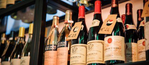 Bottles red wine